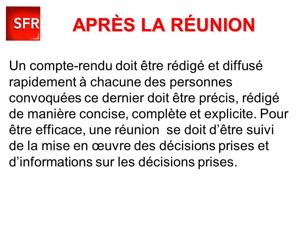APRÈS LA RÉUNION