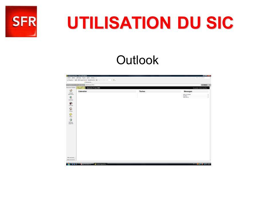 UTILISATION DU SIC Outlook
