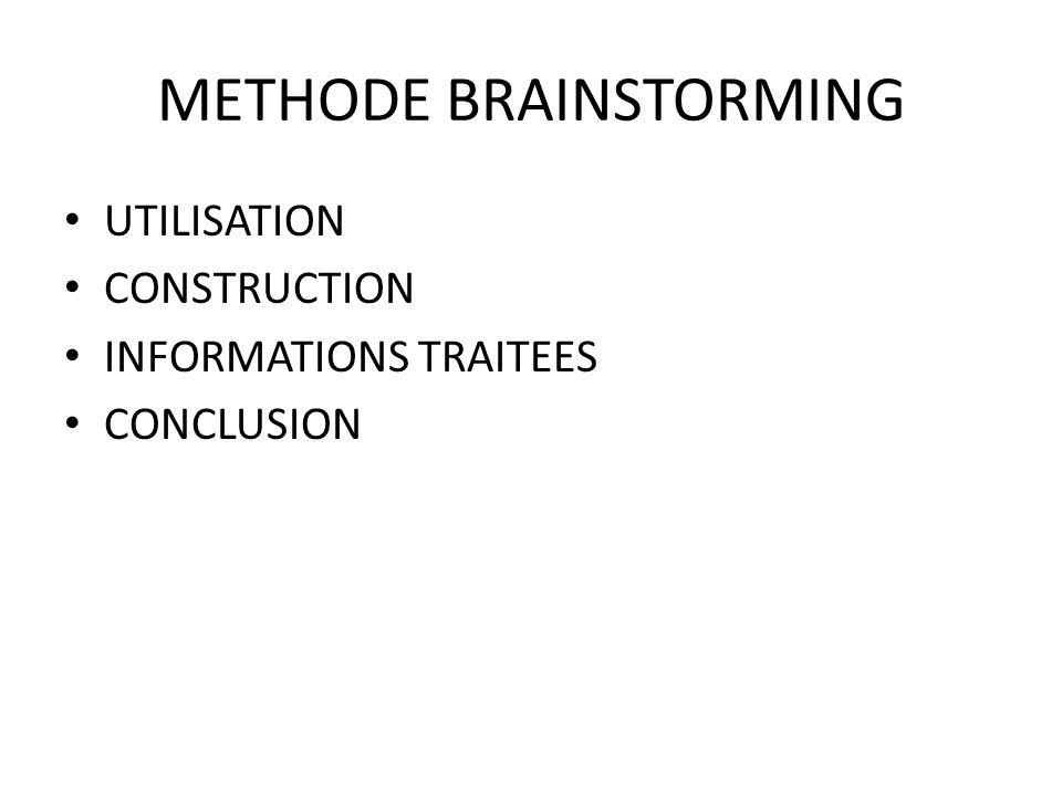 METHODE BRAINSTORMING