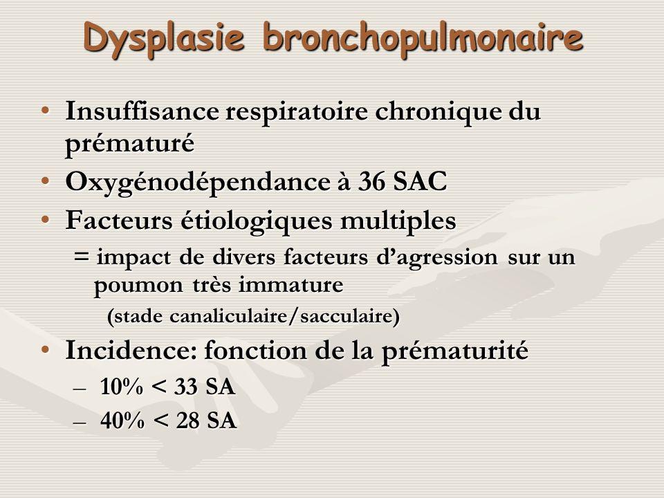 Dysplasie bronchopulmonaire
