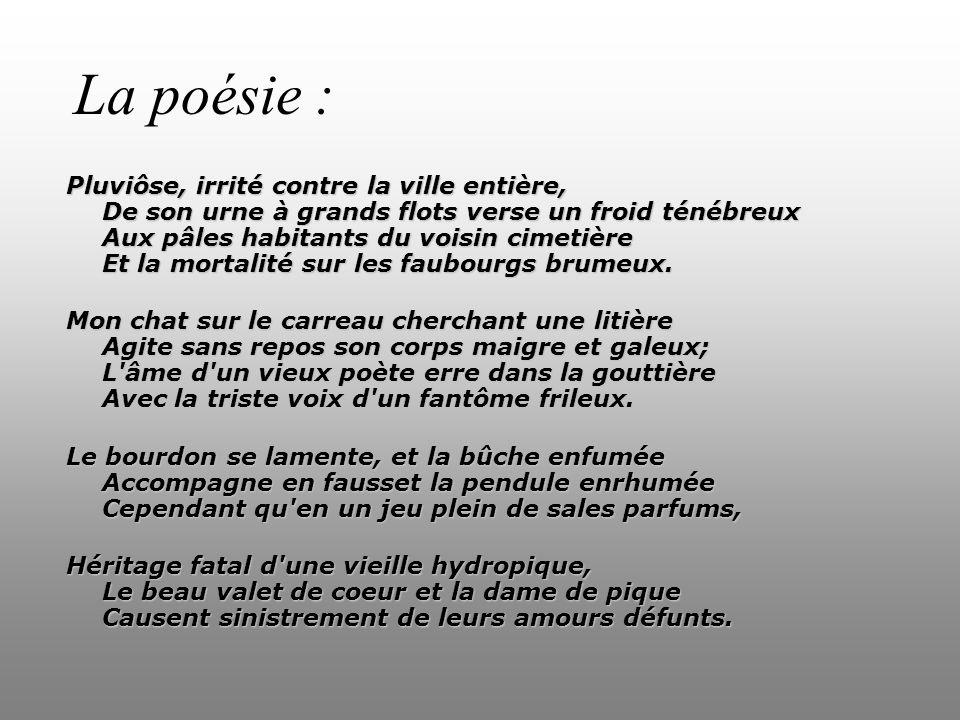 La poésie :