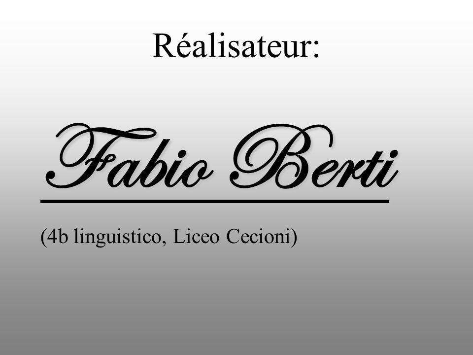 Réalisateur: Fabio Berti (4b linguistico, Liceo Cecioni)