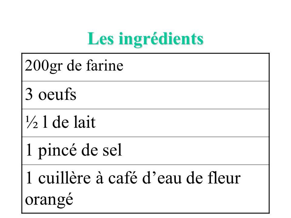 1 cuillère à café d'eau de fleur orangé