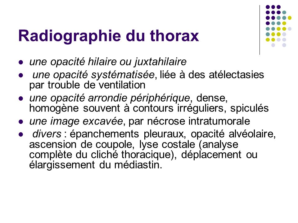 Radiographie du thorax