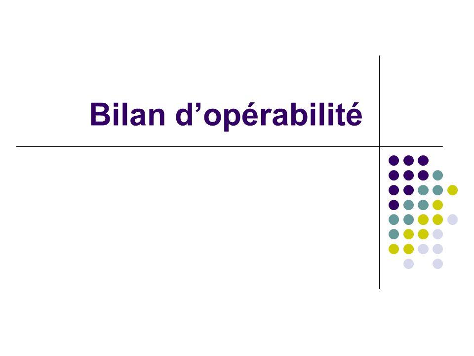 Bilan d'opérabilité