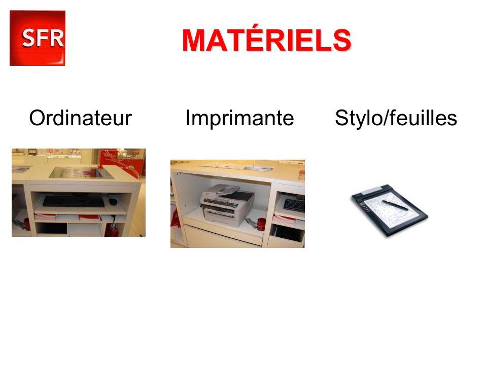 Ordinateur Imprimante Stylo/feuilles
