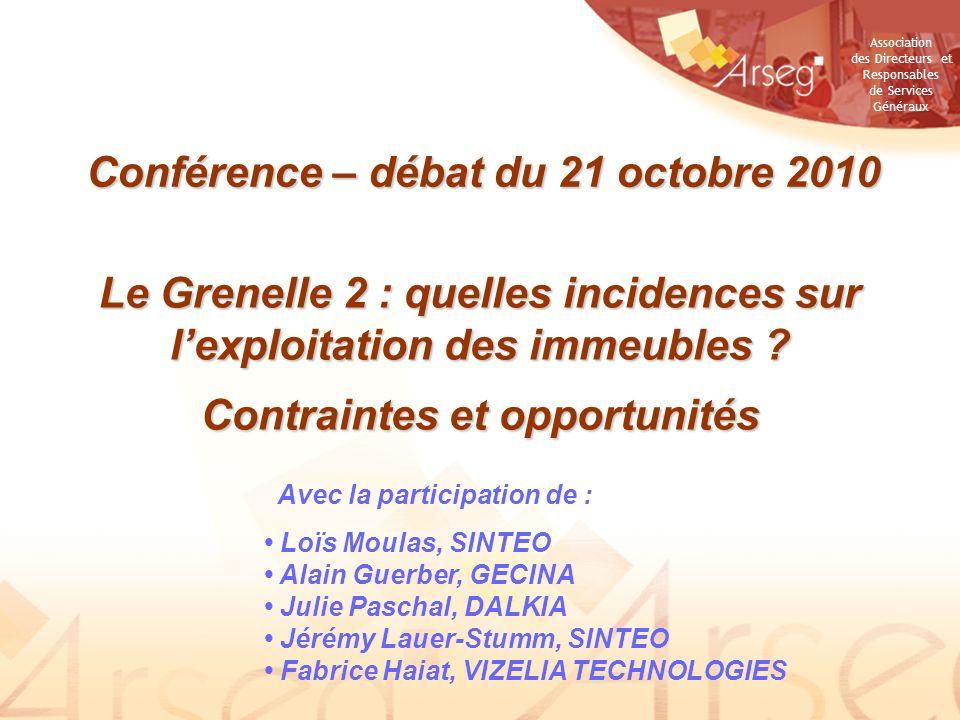 Conférence – débat du 21 octobre 2010