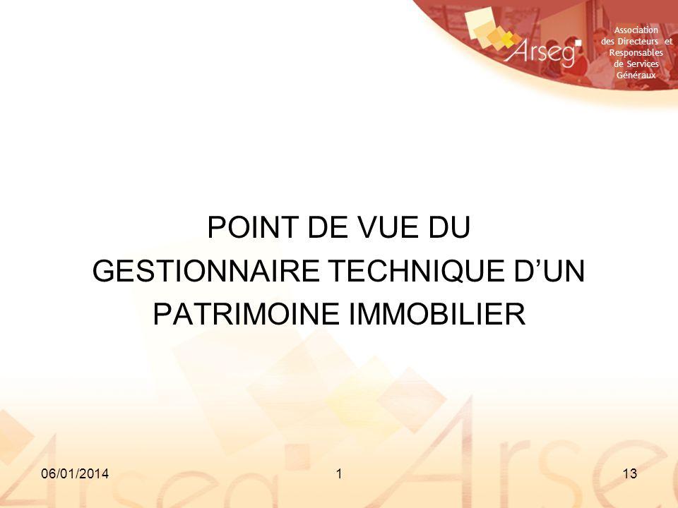 GESTIONNAIRE TECHNIQUE D'UN PATRIMOINE IMMOBILIER