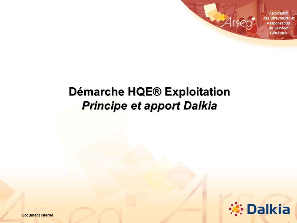 Démarche HQE® Exploitation Principe et apport Dalkia