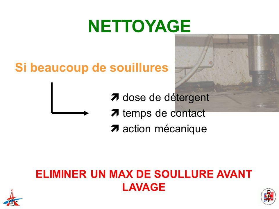 ELIMINER UN MAX DE SOULLURE AVANT LAVAGE