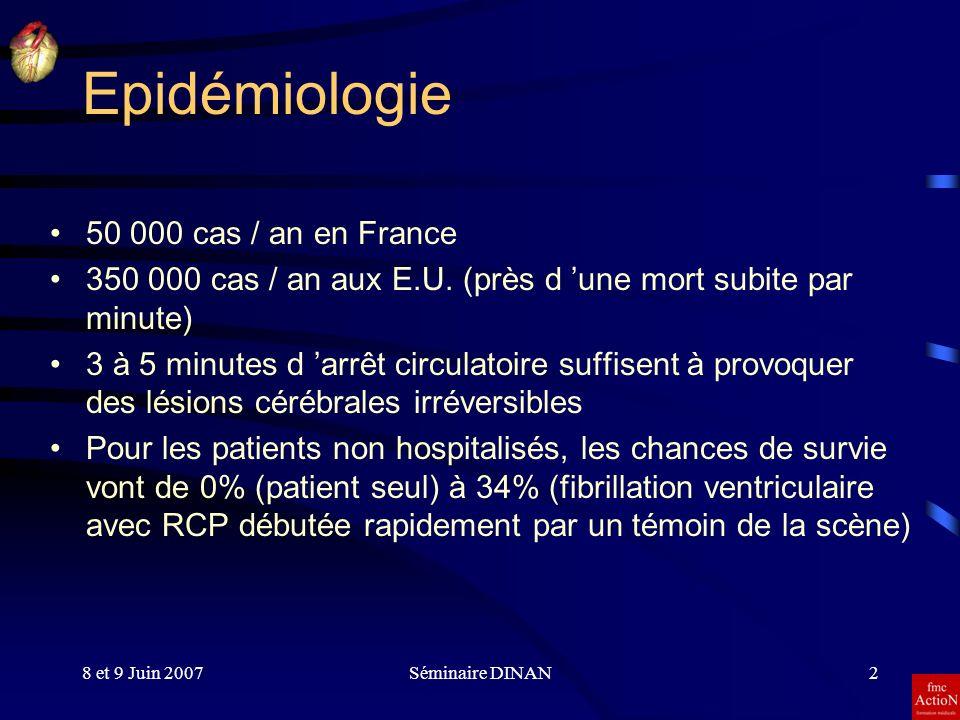 Epidémiologie 50 000 cas / an en France