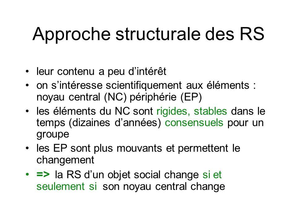 Approche structurale des RS