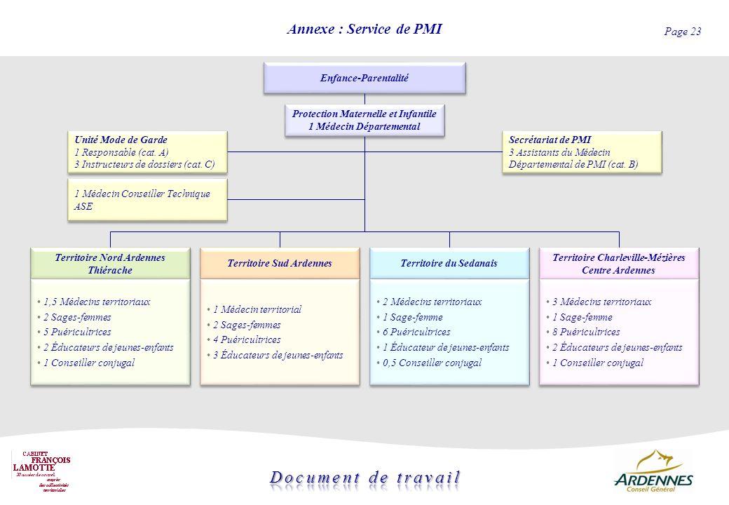 Annexe : Service de PMI Enfance-Parentalité
