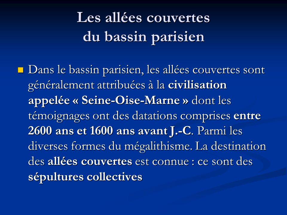 Les allées couvertes du bassin parisien