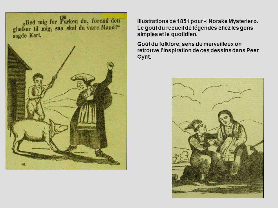 Illustrations de 1851 pour « Norske Mysterier »