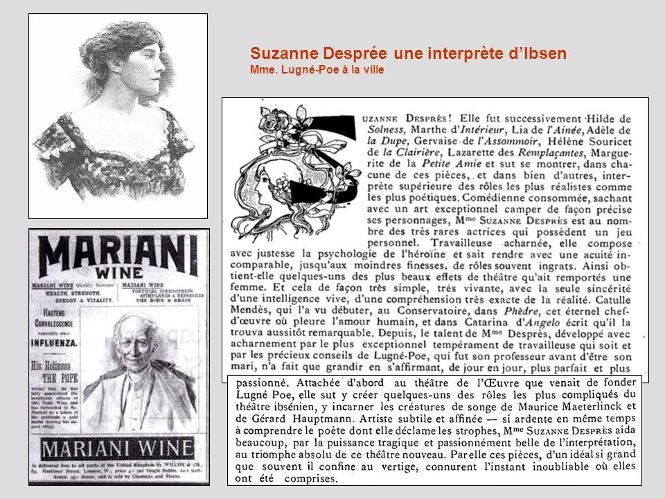 Suzanne Desprée une interprète d'Ibsen