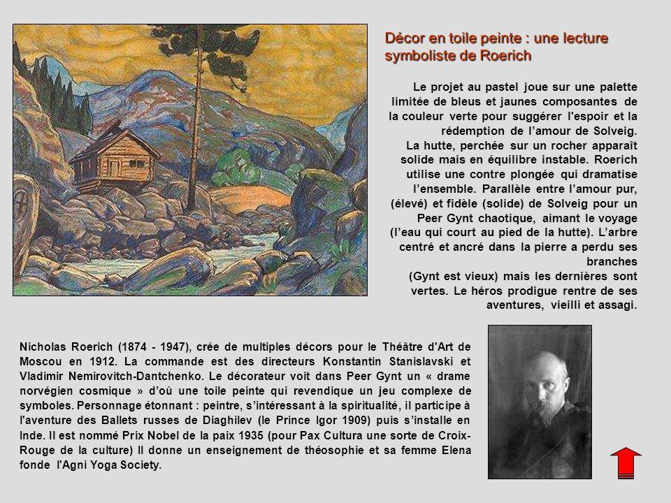Décor en toile peinte : une lecture symboliste de Roerich