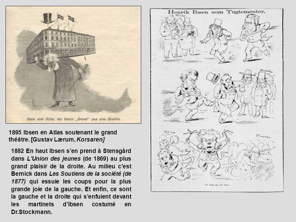 1895 Ibsen en Atlas soutenant le grand théâtre