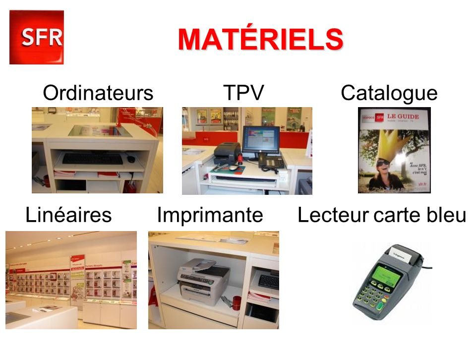 Ordinateurs TPV Catalogue Linéaires Imprimante Lecteur carte bleu