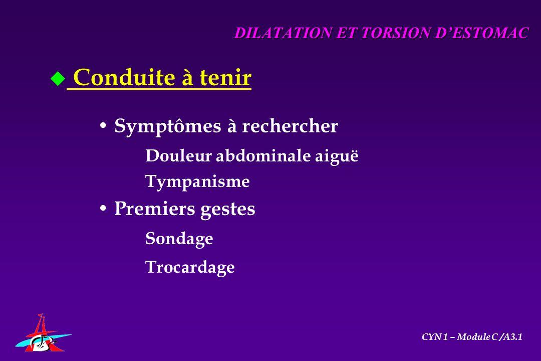 DILATATION ET TORSION D'ESTOMAC