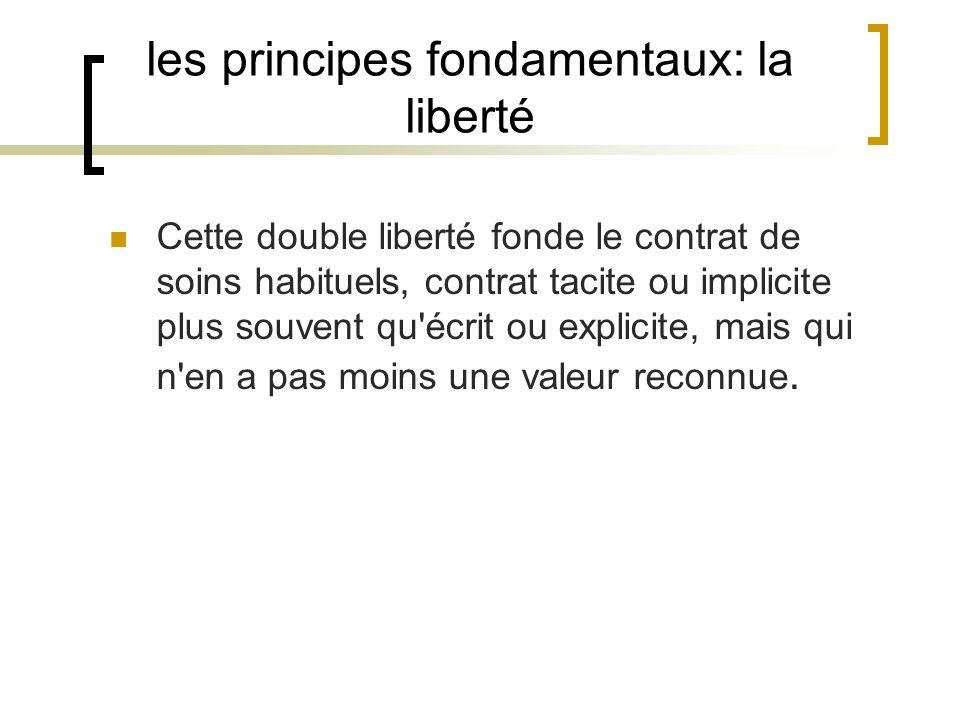 les principes fondamentaux: la liberté