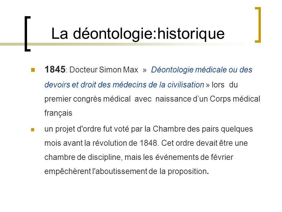 La déontologie:historique