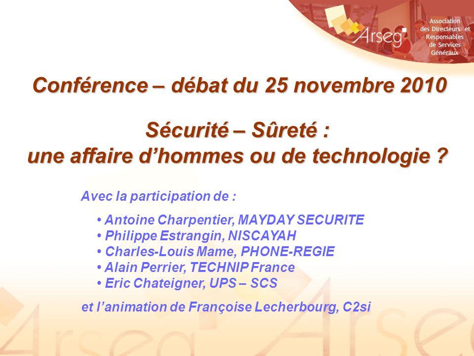Conférence – débat du 25 novembre 2010