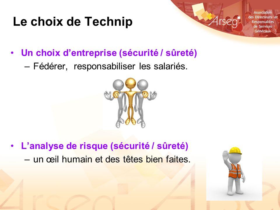 Le choix de Technip Un choix d'entreprise (sécurité / sûreté)