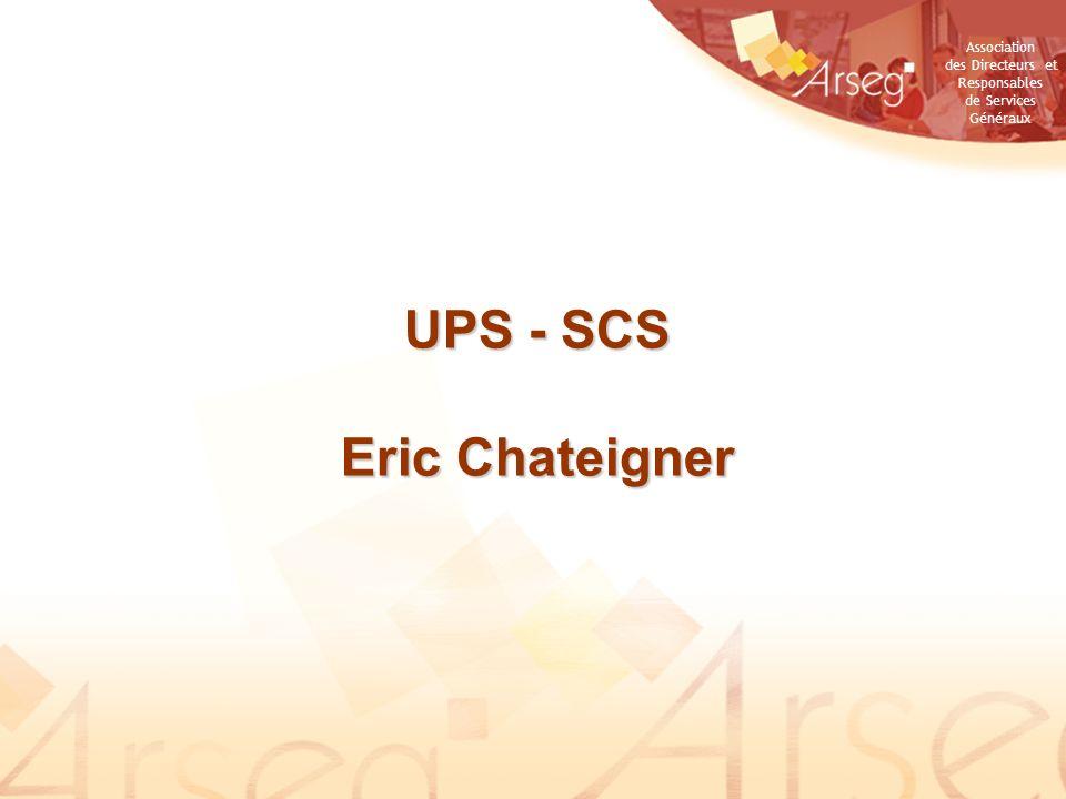 UPS - SCS Eric Chateigner