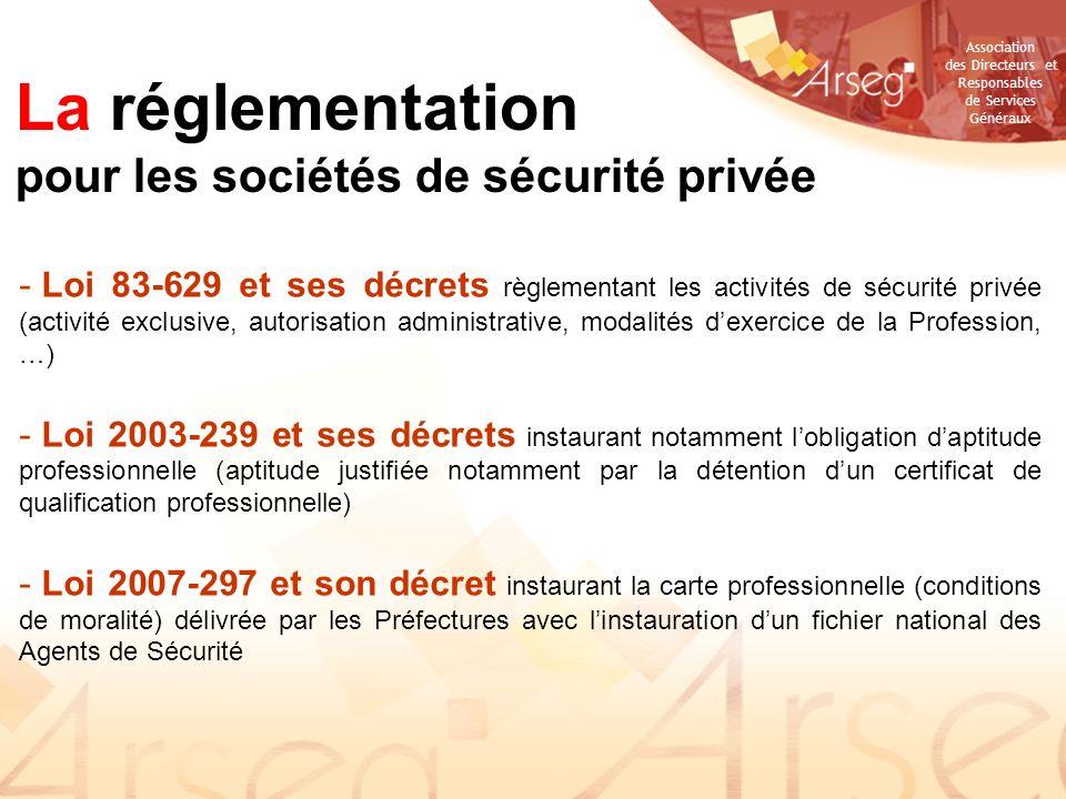 La réglementation pour les sociétés de sécurité privée