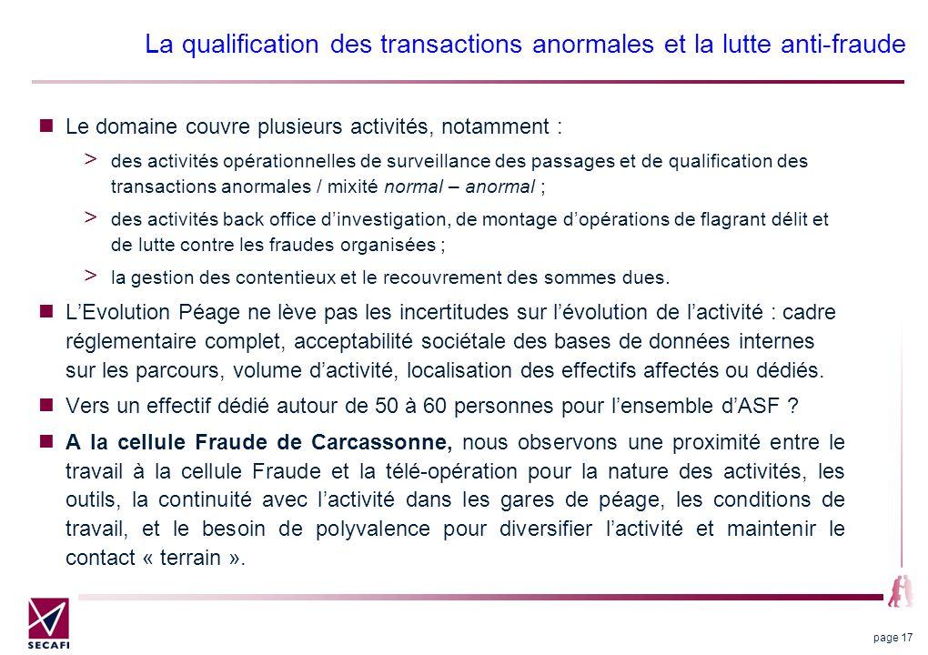 La qualification des transactions anormales et la lutte anti-fraude