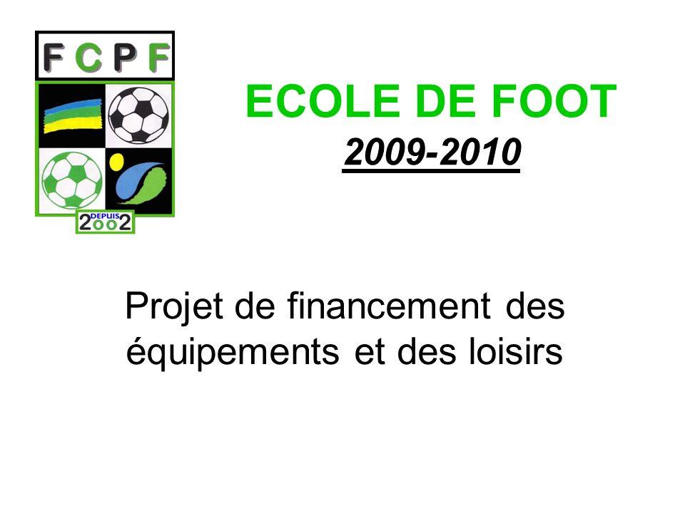 Projet de financement des équipements et des loisirs