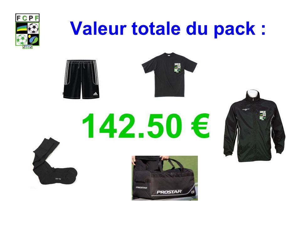 Valeur totale du pack : 142.50 €