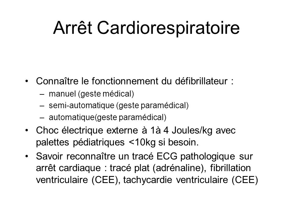 Arrêt Cardiorespiratoire