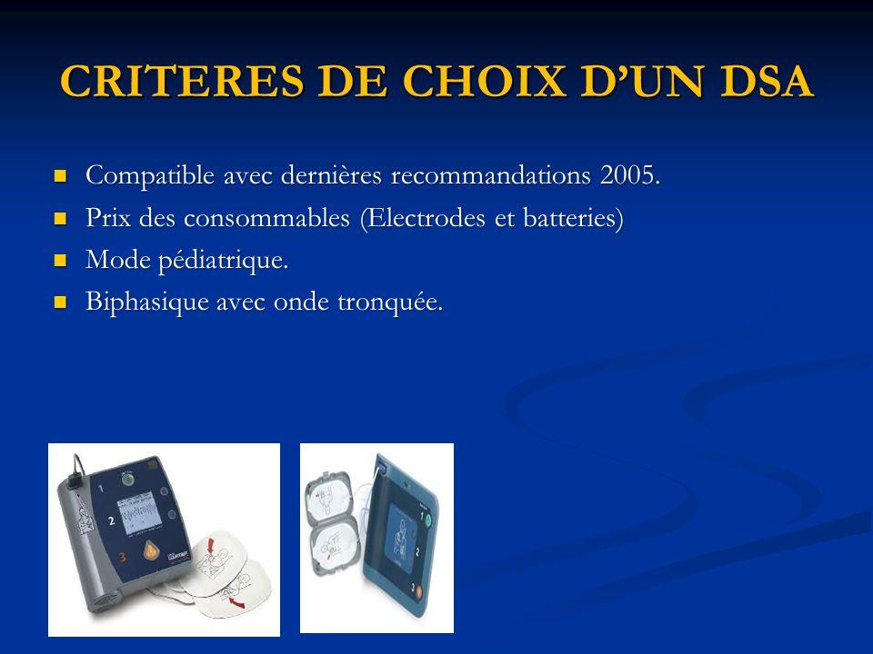 CRITERES DE CHOIX D'UN DSA