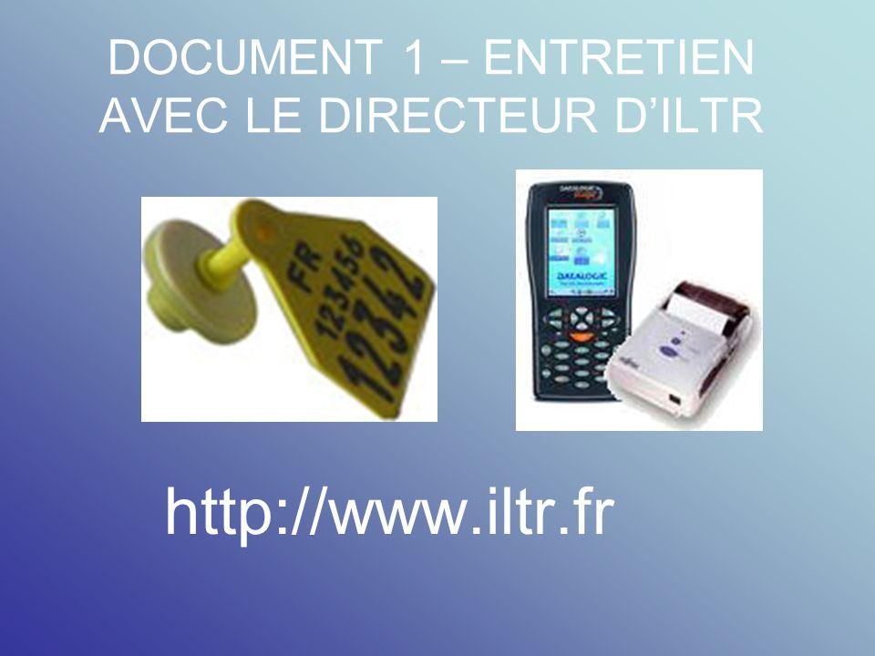 DOCUMENT 1 – ENTRETIEN AVEC LE DIRECTEUR D'ILTR