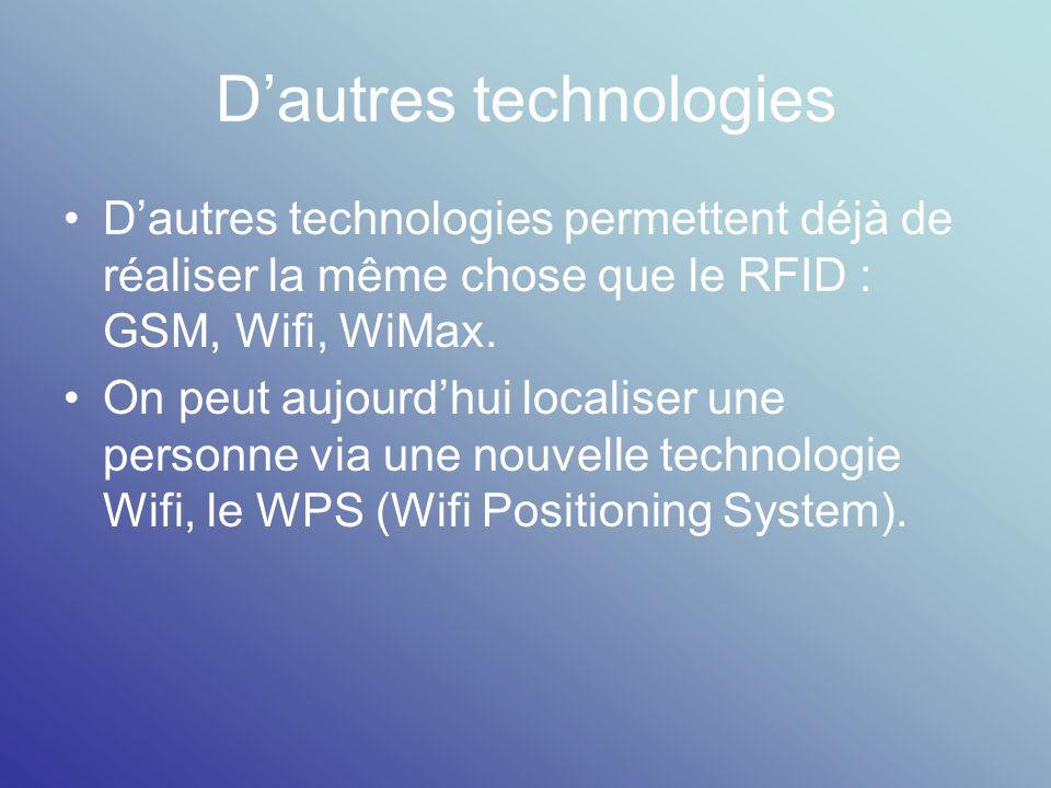 D'autres technologies