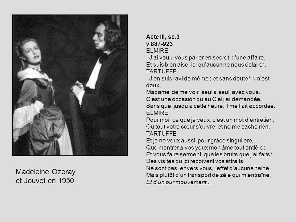Madeleine Ozeray et Jouvet en 1950