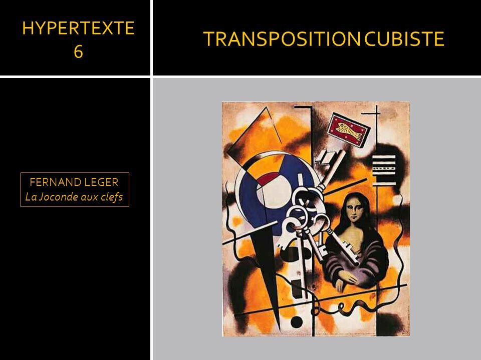 TRANSPOSITION CUBISTE