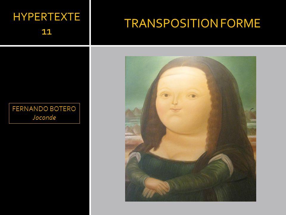 TRANSPOSITION FORME HYPERTEXTE 11 FERNANDO BOTERO Joconde