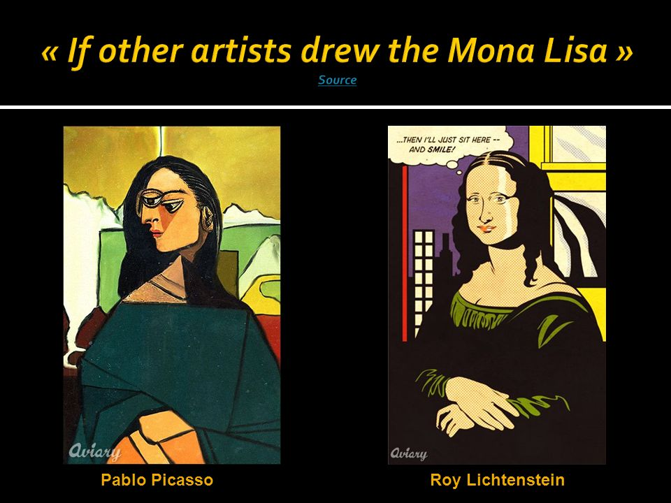 « If other artists drew the Mona Lisa » Source