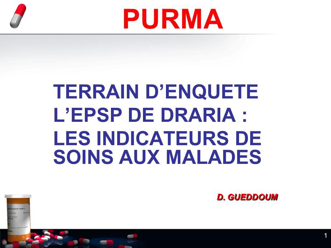 PURMA TERRAIN D'ENQUETE L'EPSP DE DRARIA :