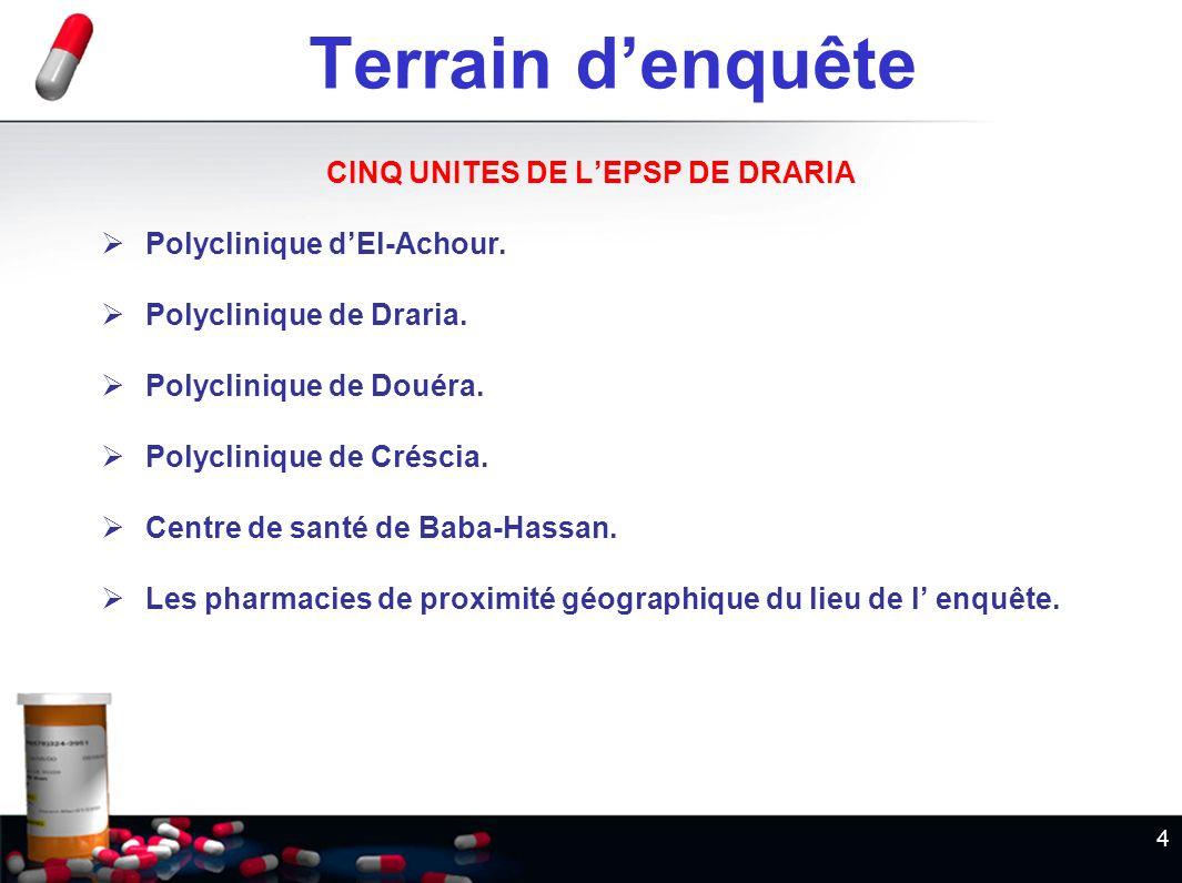 CINQ UNITES DE L'EPSP DE DRARIA