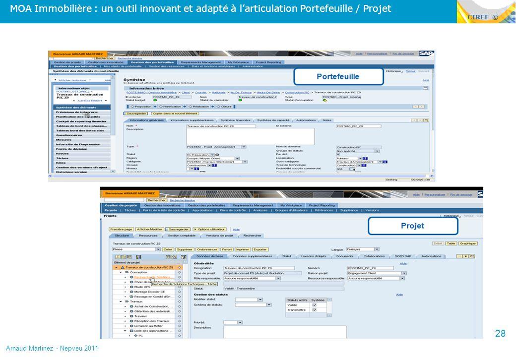 MOA Immobilière : un outil innovant et adapté à l'articulation Portefeuille / Projet