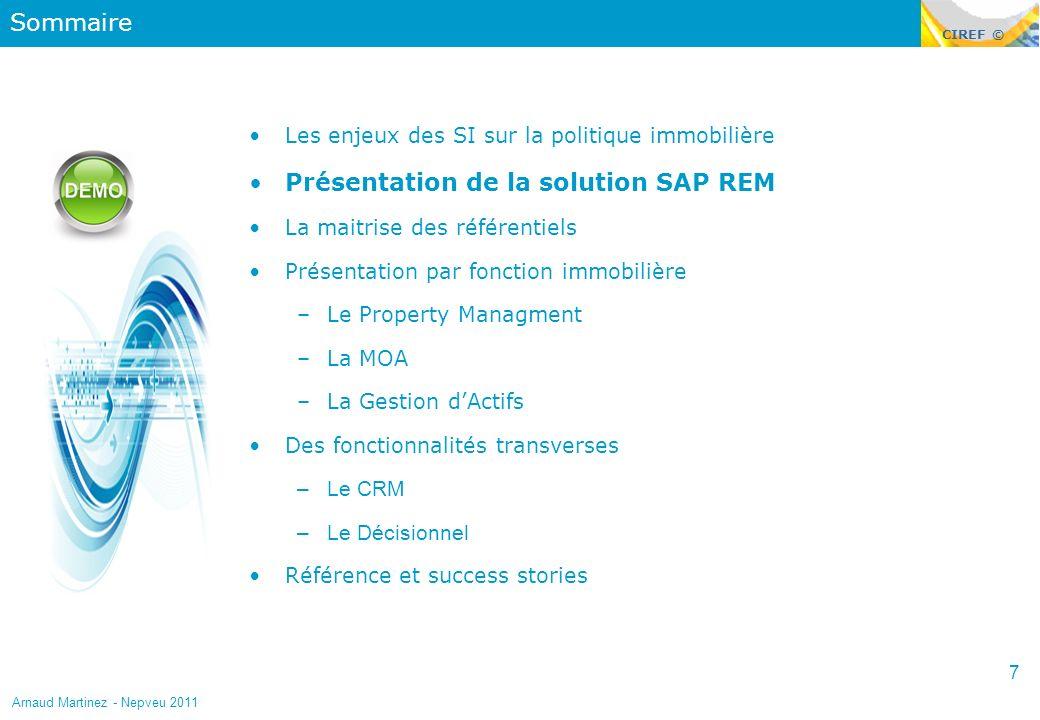 Présentation de la solution SAP REM