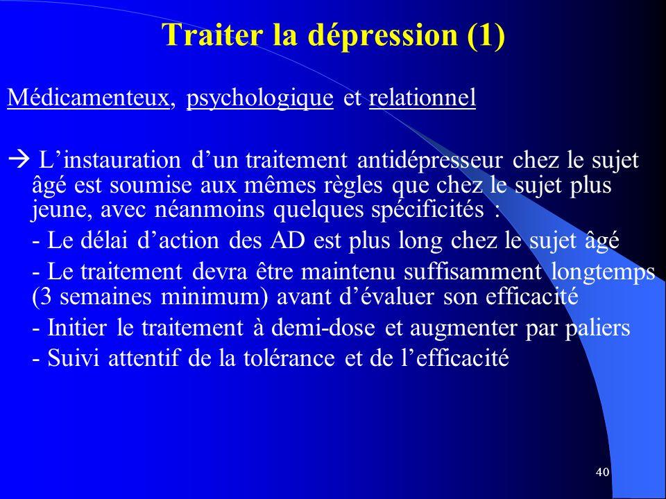 Traiter la dépression (1)
