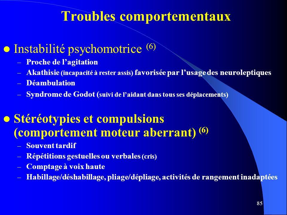 Troubles comportementaux