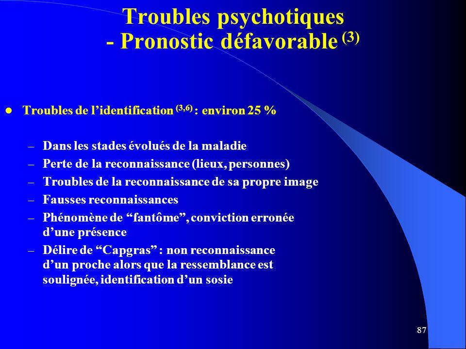 Troubles psychotiques - Pronostic défavorable (3)