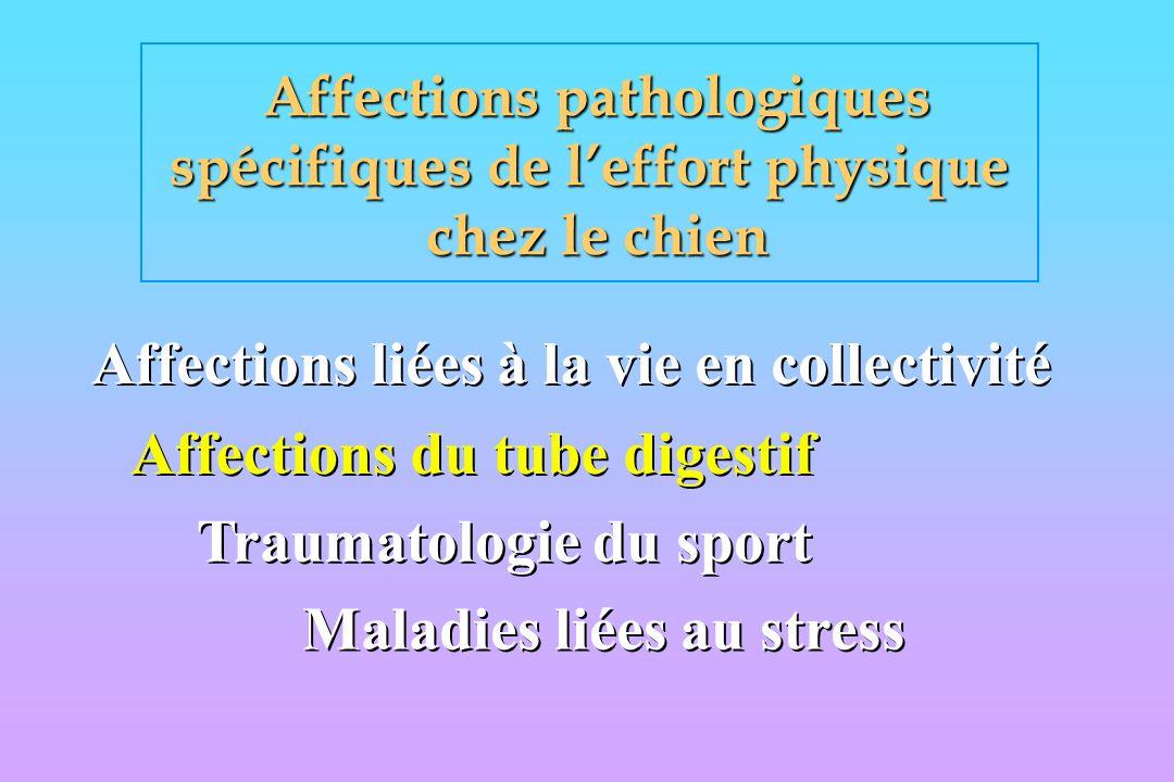Affections pathologiques spécifiques de l'effort physique
