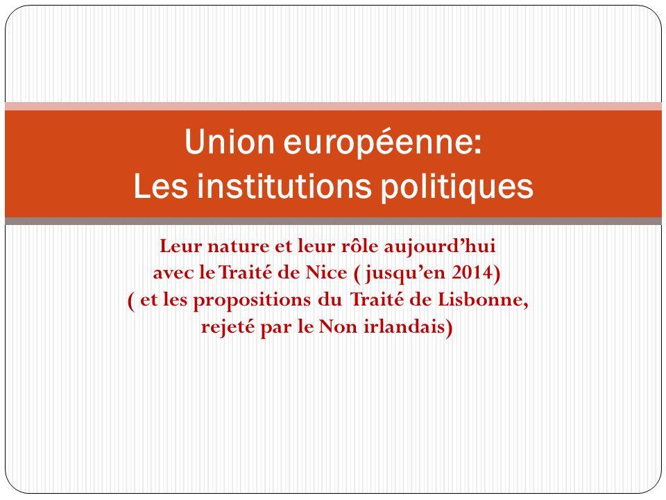 Union européenne: Les institutions politiques